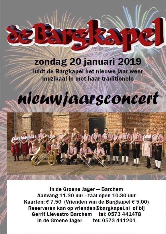 Nieuwjaarsconcert Bargkapel